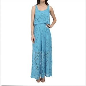 London Times Maxi Dress 10 Sleeveless Scoop Neck